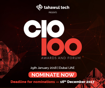 Tahawul Tech presents | CIO 100 Awards & Forum  | 29 January 2018 | Dubai | UAE | NOMINATE NOW