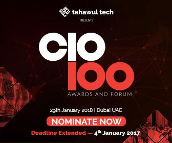 Tahawul Tech presents | CIO 100 Awards & Forum  | 29 January 2018 | Dubai | UAE | NOMINATE NOW