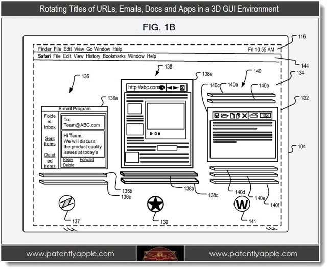 New apple patents reveal 3d safari web browsing computer 3d web browser
