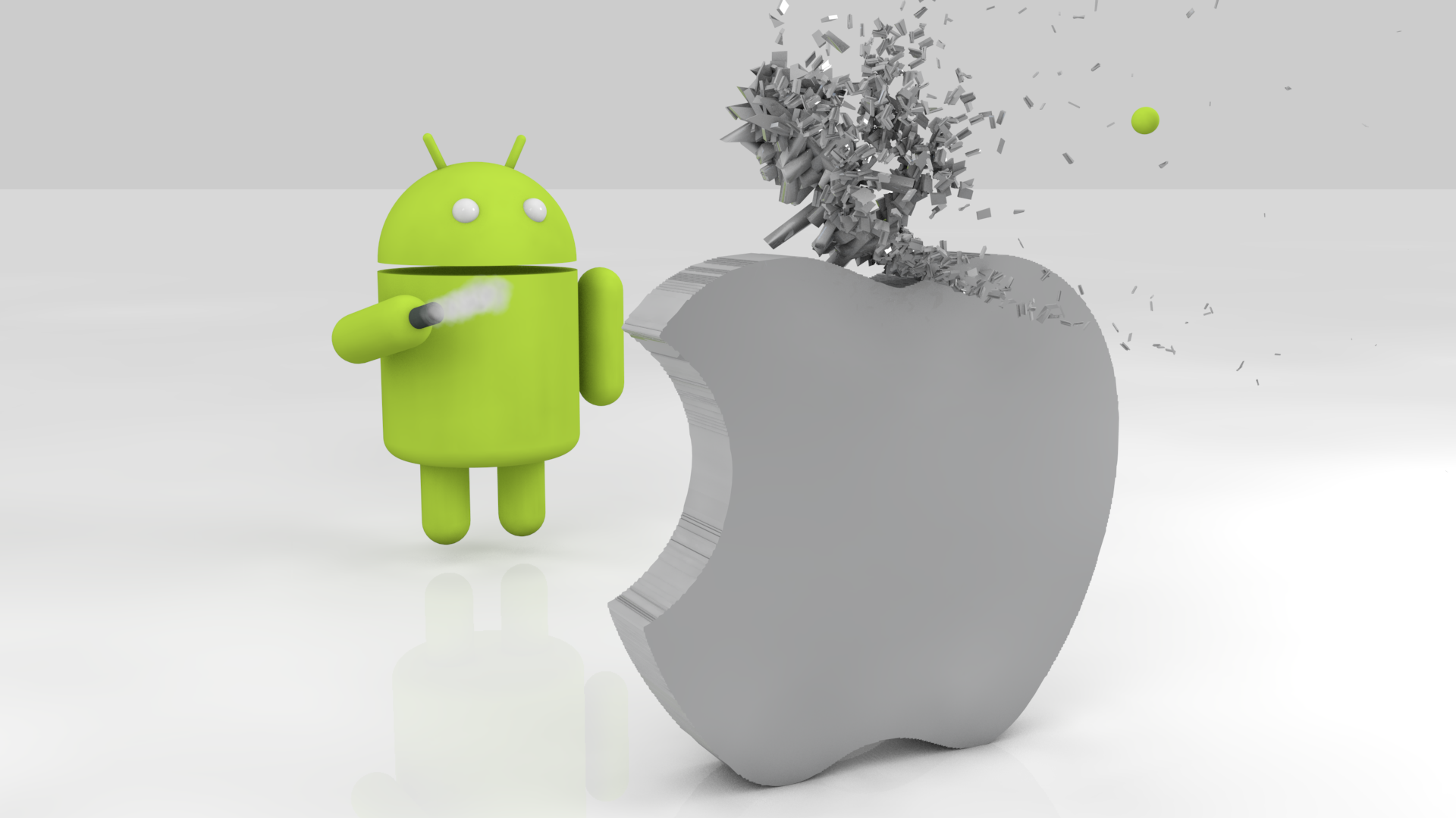 Android Apple Wallpaper: Android Is Twice As Popular As IPhone, According To Poll