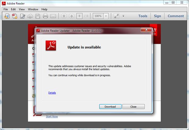 Adobe reader updates windows 7 - b2