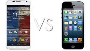 Moto X vs iPhone 5