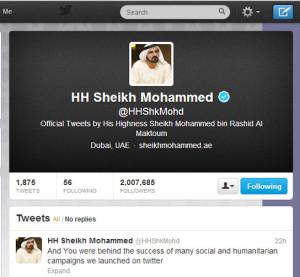 HH Sheikh Mohammed twitter
