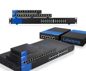 Switches and Routers stacked LINKSYS