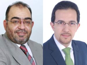 (L to R) Amjad Fathi Al-Omar, Sariya IT and Mohammad Mobasseri, EMT Distribution
