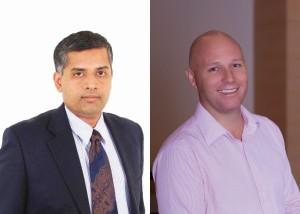 L-R Ramkumar B_ Redington Gulf and  Gregg Petersen_Veeam Software