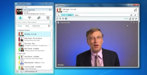 Bill Gates plugging Lync at its launch