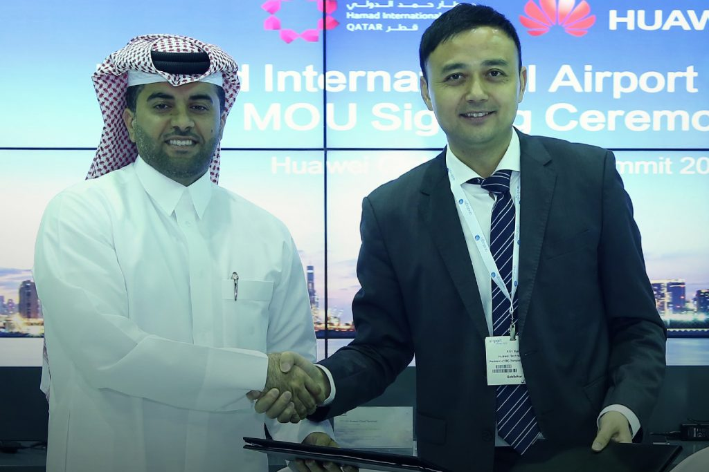 (L-R) Eng. Badr Mohammed Al Meer, HIA and Xilin Yuan, Huawei's Enterprise Business Group