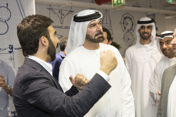 HE Mohammed Al Gergawi with Muhammed Mekki touring AstroLabs Dubai