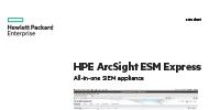 HPE ArcSight ESM Express