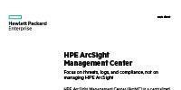 HPE ArcSight Management Center
