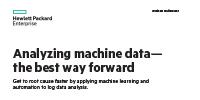 Analyzing machine data— the best way forward