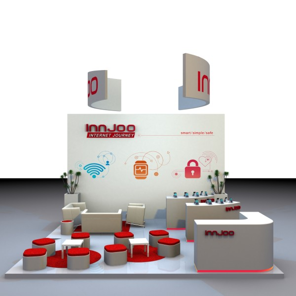 InnJoo booth at Mobile World Congress 2016