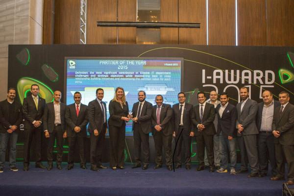 Photo caption-Etisalat Egypt IT team presenting the Award to Ericsson