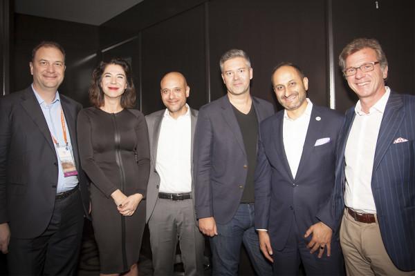Shadi Salam, Cisco with partners at the Partner Summit Awards