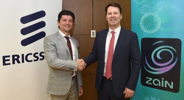 Tarek Saadi, head of CU GCP and Zain at Ericsson & Scott Gegenheimer,Zain Group CEO_ Signing Ceremony on renewed Zain Iraq Managed Services Agreement2
