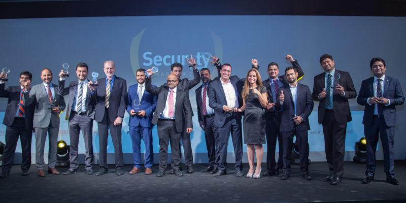 The winners of the inaugural Security Advisor Middle East Awards