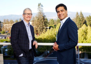 Tim Cook, Apple and Punit Renjen, Deloitte enterprise