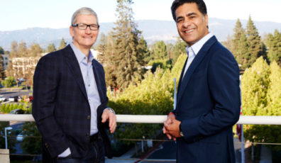 Tim Cook, Apple and Punit Renjen, Deloitte
