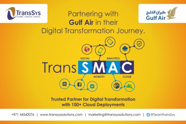TransSys | Trans SMAC | Partnering with Gulf Air in their Digital Transformation Journey