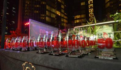 Hot 50 2016 trophies
