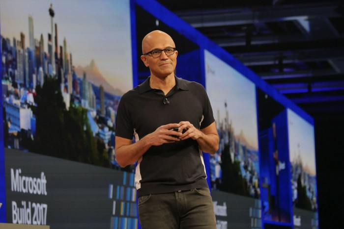 Microsoft CEO Satya Nadella at Build 2017