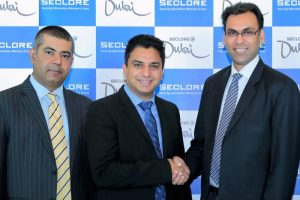 Rohit Oberoi, director of Channel Sales, India, Middle East and Africa, Seclore; Hishamul Hasheel, vice president, Software & Security, Redington Value; Amit Malhotra, VP, Sales India Middle East & Africa, Seclore