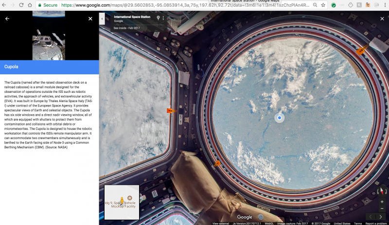 Google previews 360-imagery of the International Space ...