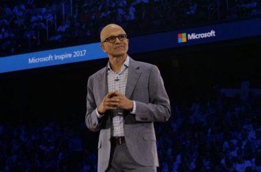 Microsoft CEO Satya Nadella at Microsoft Inspire 2017