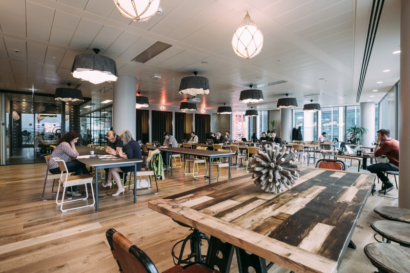 A WeWork office space in London