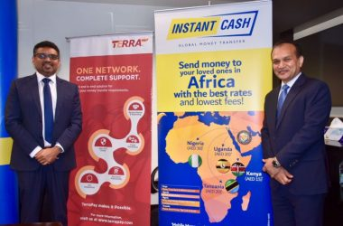 Instant Cash's acting CEO Philip C Daniel, and TerraPay founder and CEO Ambar Sur