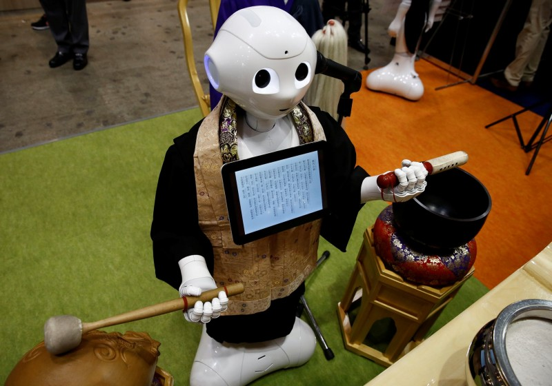 Will the future of funerals involve ceremonies led by robot priests?