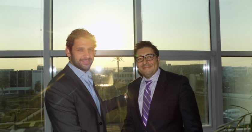(L-R) Mohamed Fahmy, IST and Mohamed Afifi, Genesys
