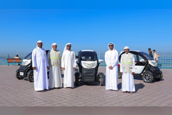 Ajman has launched a selection of hybrid vehicles to monitor its public parks