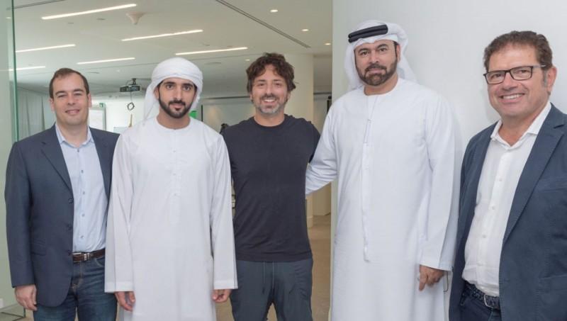 HH Sheikh Hamdan meets with Sergey Brin