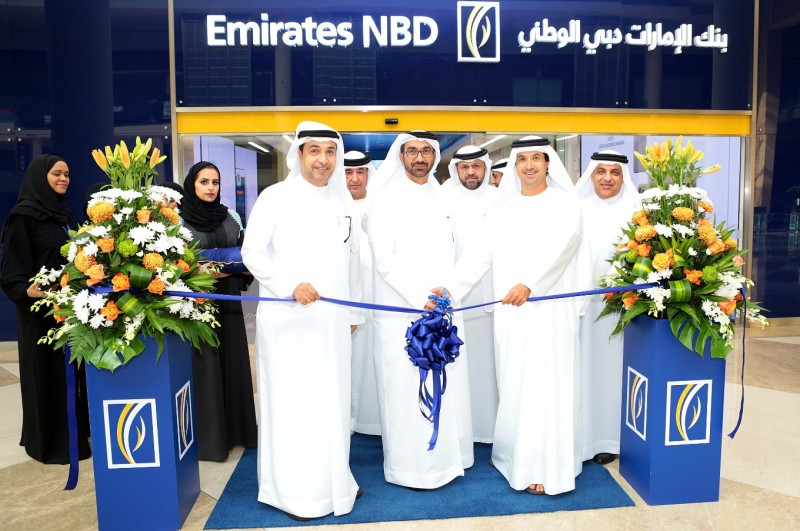 Opening the paperless digital branch at Dubai World Trade Centre.