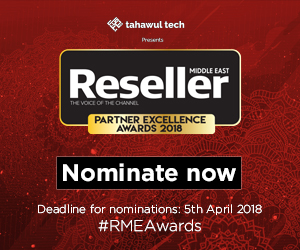 Tahawul Tech presents Reseller Middle East Partner Excellence Awards 2018 | Nominate Now |  DEADLINE: 28th March 2018 | #RMEAwards18
