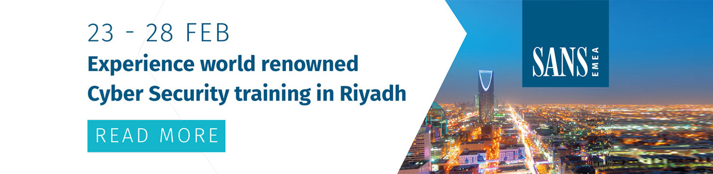 Experience world renowned Cyber Security training in Riyadh | 23 - 28 February 2019