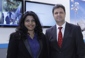 (L-R) Sonia Sebastian, Director, Security Systems and Munaf Chouguley, CEO, SNB Middle East