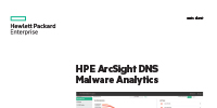 HPE ArcSight DNS Malware Analytics