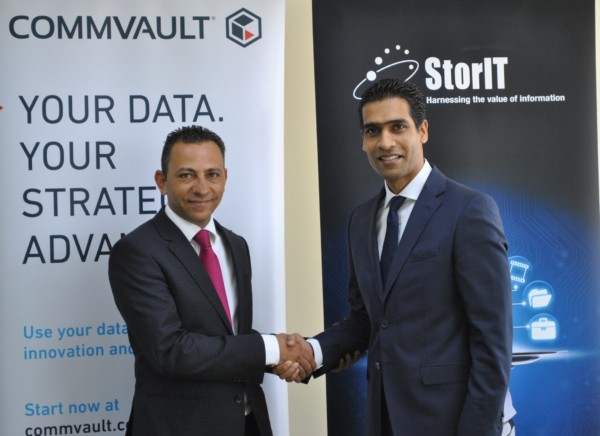 Wael Mustafa, Channel Director MESAT, Commvault and Suren Vedantham, Group Managing Director, StorIT Distribution