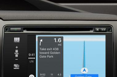 Apple's Maps app in CarPlay