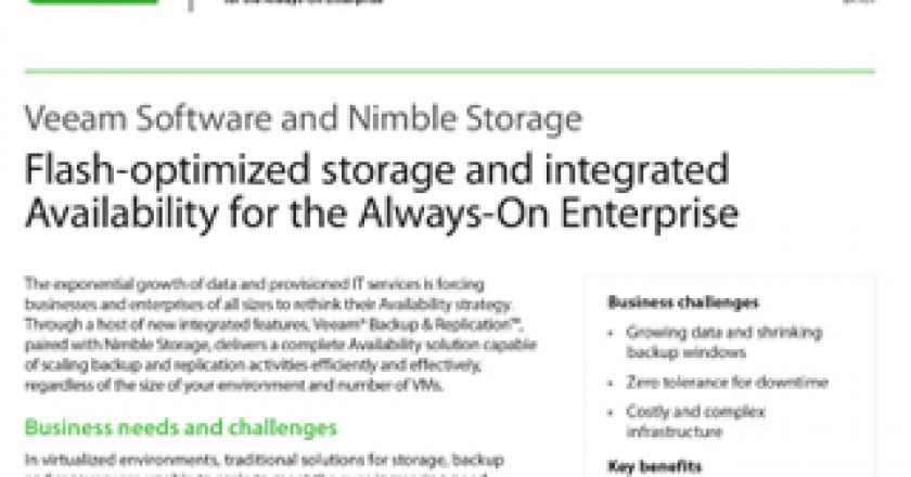 Flash-optimized Storage and Integrated Availability for the Always-On Enterprise