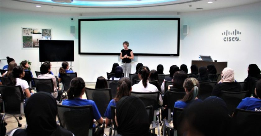 Frida Kleimert, Channel Lead – East Region, Cisco Middle East share her journey with the students at Cisco's Girls Power Tech