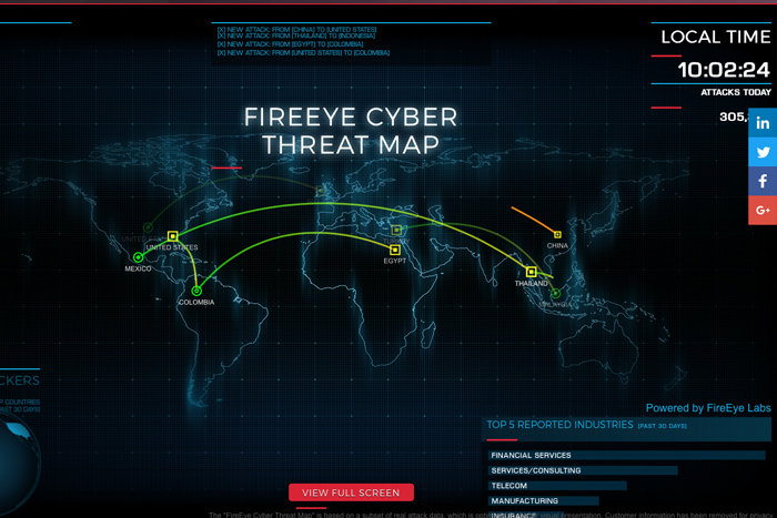 8 top cyber-attack maps and how to use them | TahawulTech com