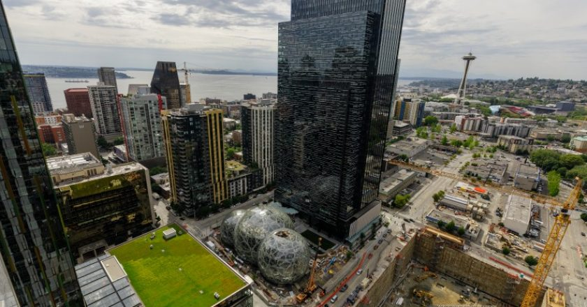 Amazon's headquarters in Seattle