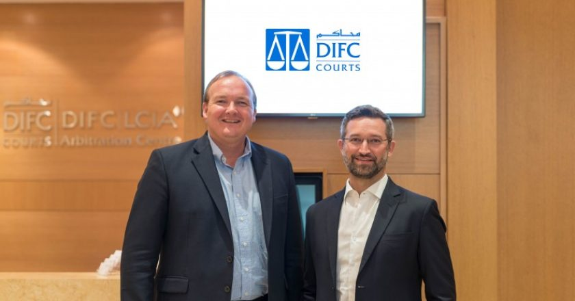 Mark Beer, co-chief executive registrar general DIFC Courts, and Dr. Noah Raford, chief operating officer, Dubai Future Foundation