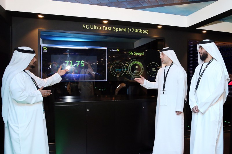 Etisalat Engineering team with live trial of 5G