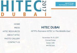 HFTP and Naseba to organise inaugural HITEC Dubai