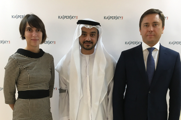 Maria Namestnikova, Faisal Mohammed AlShimmari, Maxim Frolov at 'The price of going social' event.